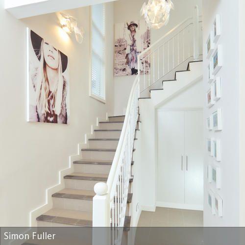 40 besten Bildern zu Flur \ Treppe auf Pinterest - badezimmer fliesen ideen schwarz weiß
