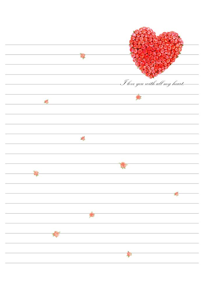 122 best hearts stationery images on Pinterest Printables, Paper - printable loose leaf
