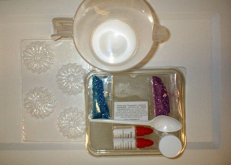 starters pakket - zelf suspensie zeep maken - glitterzeep