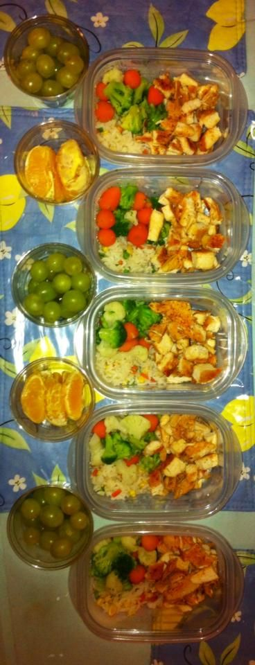 Meal prep for all the lunches this week