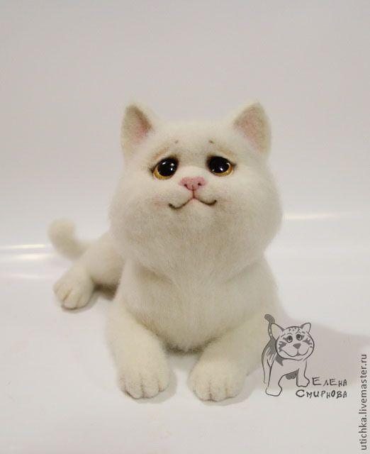 Купить Мишка. - белый, кот, персидский кот, портретный, портретный шарж, котик…