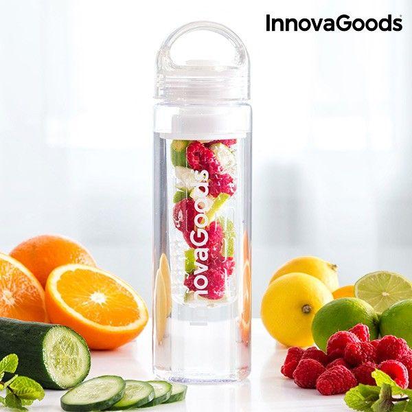 #Flasche mit #Teesieb #Wasser #Aroma #trinken #Geschmack