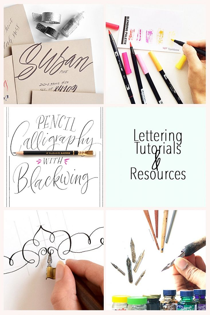 5 Lettering Tutorials & Resources - these tutorials will make you want to pick up your pencil or pen and draw pretty letters. Click through for details!