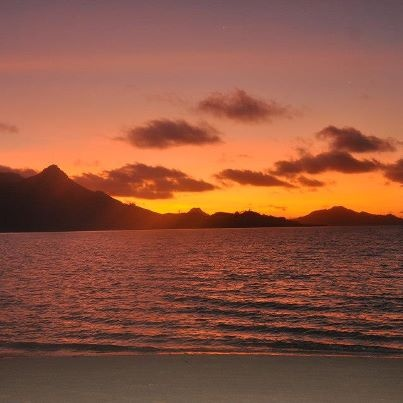 Sun sets over the norther paradise private island of Nukubati (northern Fiji). *Nukubati photo.  http://pinterest.com/explorefiji