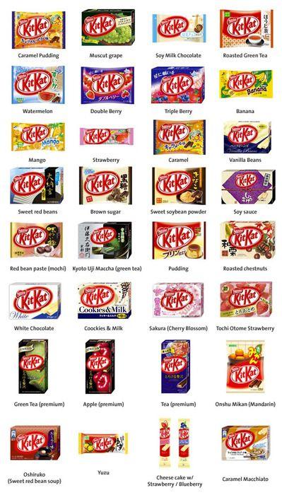 Japanese Kit Kat flavors