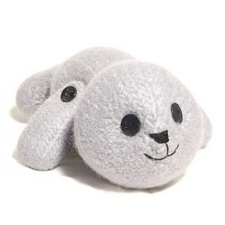 This cuddly winter companion has moving jointed front flippers and cute button eyes. It is so quick to knit using large size needles, then magically transformed into thick soft felt by a ride in your washing machine!