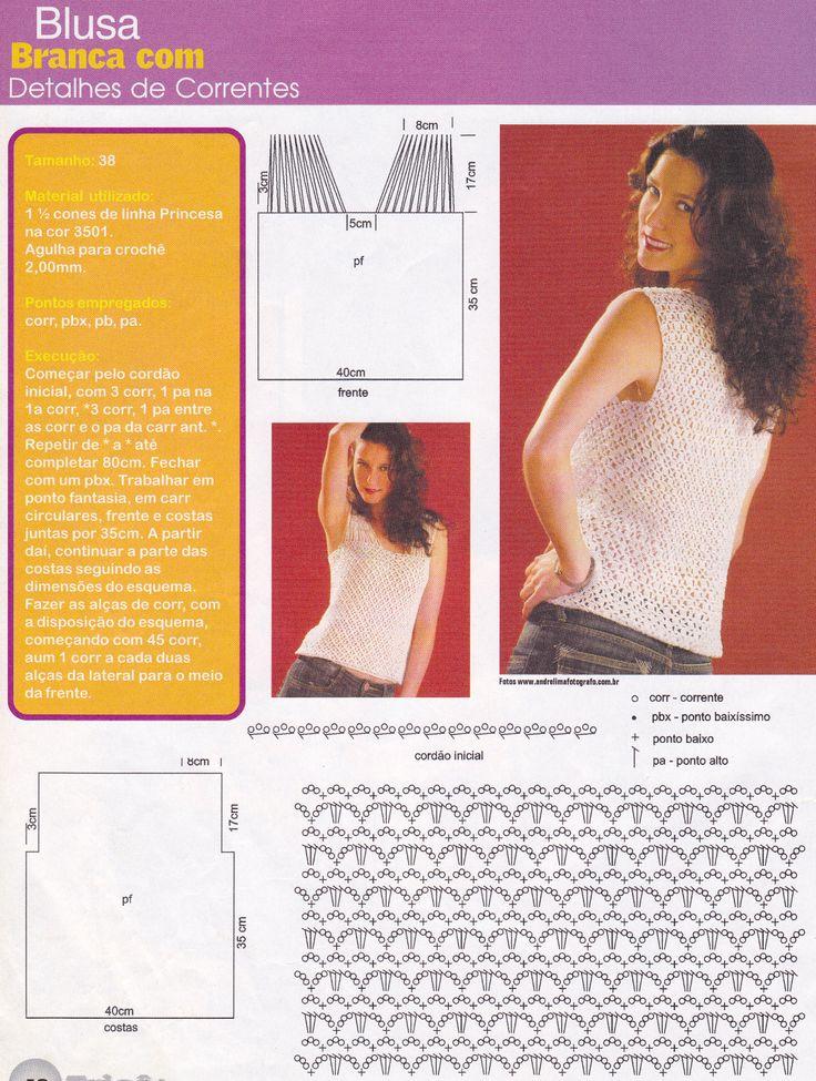 esquema da blusa branca