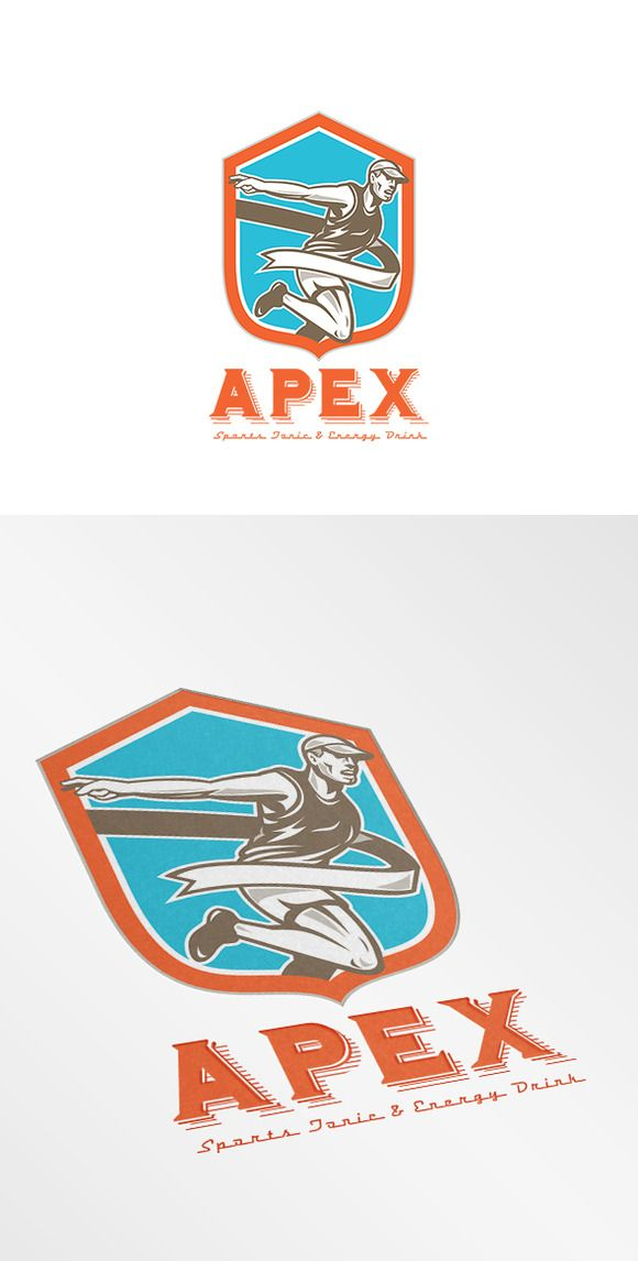 Apex Energy Drink Logo by patrimonio on Creative Market