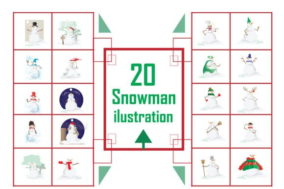 Download Snowman Illustration - 20 (Graphic) by RFG · Creative ...