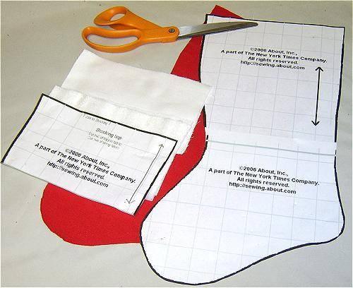 Free printable Christmas stocking pattern.