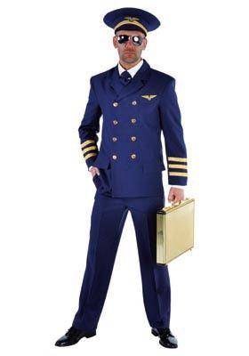 Piloot de luxe | Kostuums mannen | FEESTARTIKELEN BELGIE - GOEDKOPE FEESTARTIKELEN - FEESTKLEDING - CARNAVALSKOSTUUMS