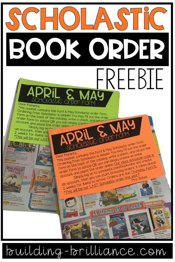 Freebie Scholastic Reading Club Order Form Scholastic Book