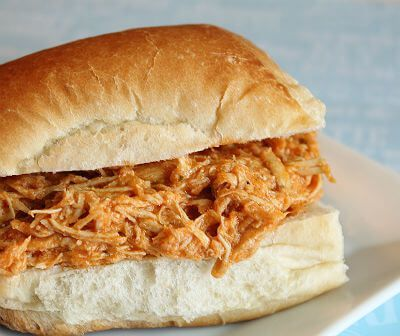 Delicious shredded buffalo chicken made with only three simple ingredients and a crockpot. Can be used for so many different recipes!