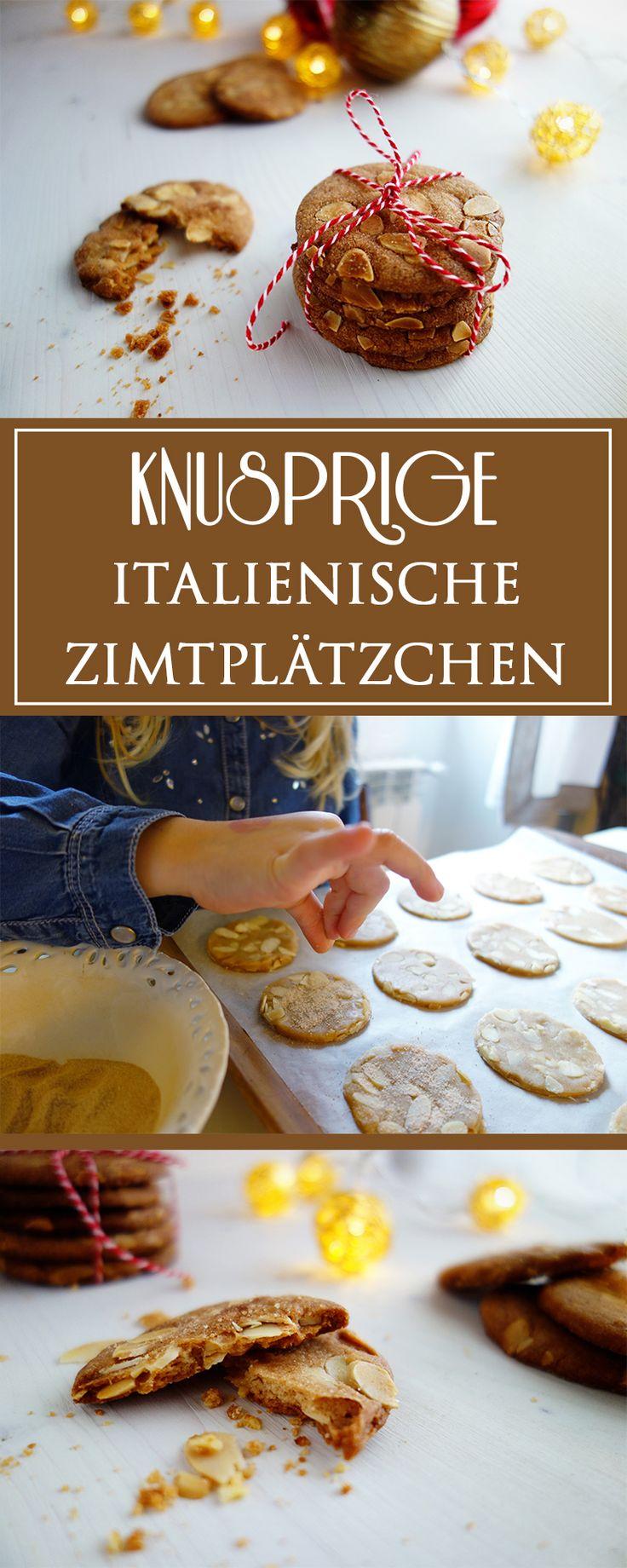 Knusprige Zimtplätzchen - ein einfaches, unwiderstehlich leckeres Rezept für italienische Kekse. Toll auch, um sie mit Kindern zu backen & zur Adventszeit!   cucina-con-amore.de