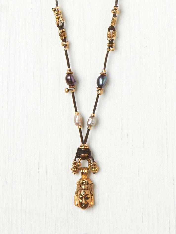 Turchin Diamond Ilaid Buddha Necklace