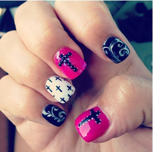 Acrylic Nail Designs With Crosses: 25+ Best Ideas About Cross Nail Designs On Pinterest
