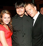 Kevin Bacon with his children, actors Travis Bacon and Sosie Bacon.