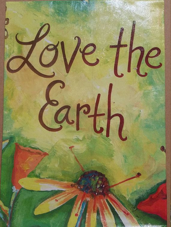 Love The Earth Notecard and Envelope small journal free