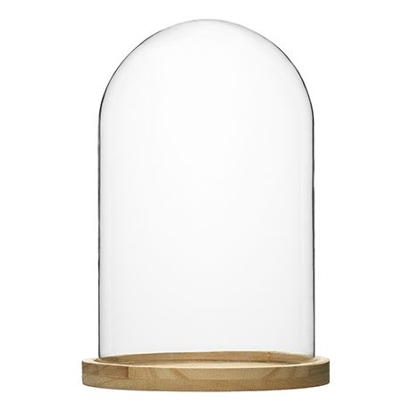 Cloche with Timber Base 26cm