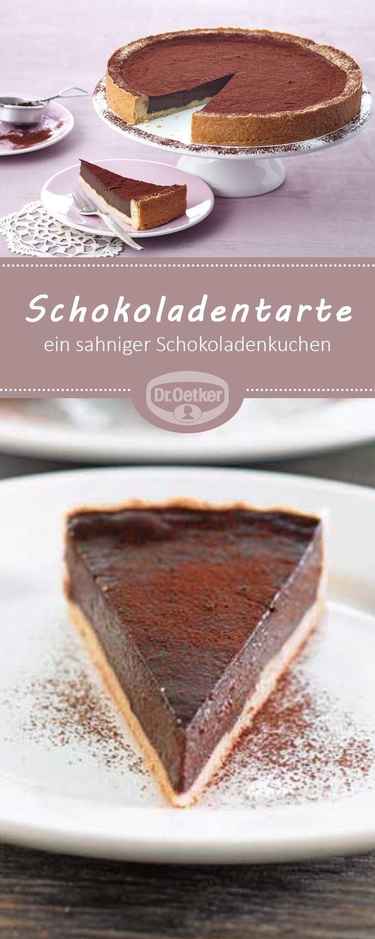 Schokoladentarte: Ein sahniger Schokoladenkuchen zur Kaffeezeit