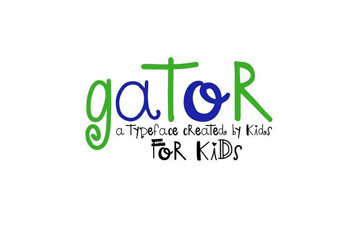 Gator -  A font by kids, for kids from FontBundles.net