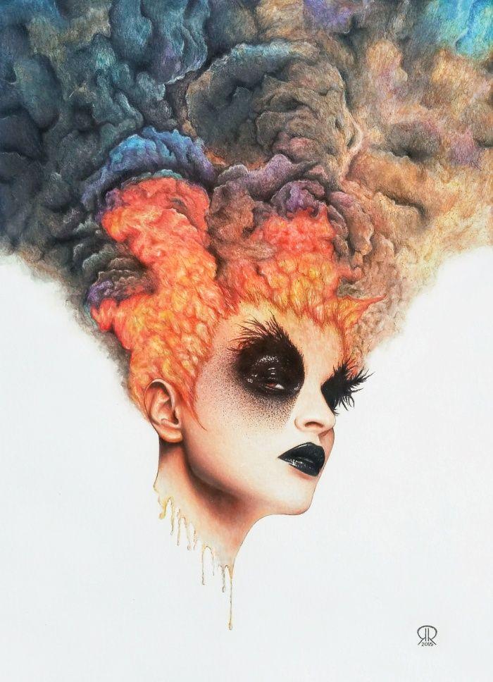 """Burning Girl"" Art Print by Ronald Restituyo on Society6."