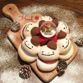 お菓子なスノーマン♡ちぎりパン