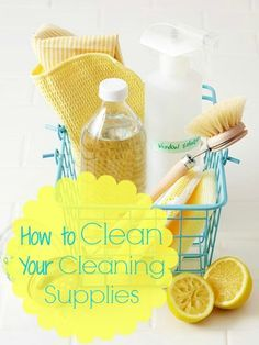 How to Clean Your Cleaning Supplies via Tipsaholic.com