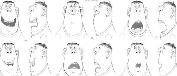 Expressões faciais dos personagens de ParaNorman