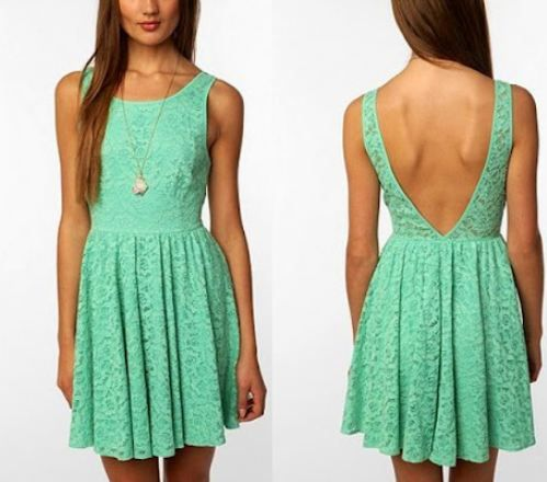 Turquoise lace dress, love