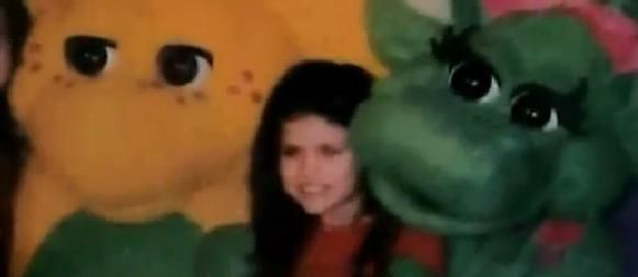 Here's a photo of Selena Gomez when she was young. (Selena on the set of Barney.)