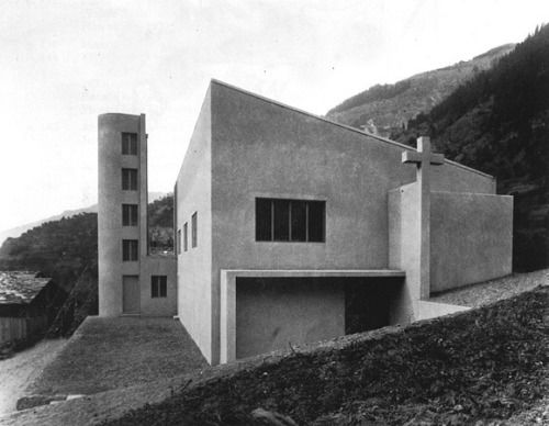 Church Notre-Dame-du-Bon-Conseil (1932/1957) in Lourtier, Switzerland, by Alberto Sartoris