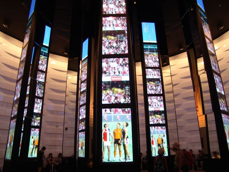 Vertical Video walls in the Australian Pav.@ Expo 2005 Japan Pavilions, Booths…