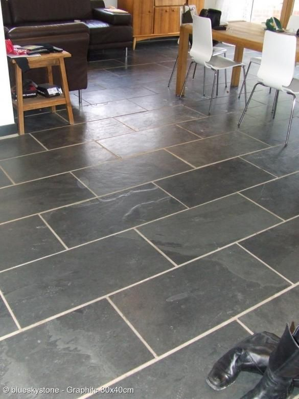 Dark Gray Kitchen Floor Grey Tiles Blueskystone Graphite 80x40cm Ideas In 2018 Pinterest Flooring And