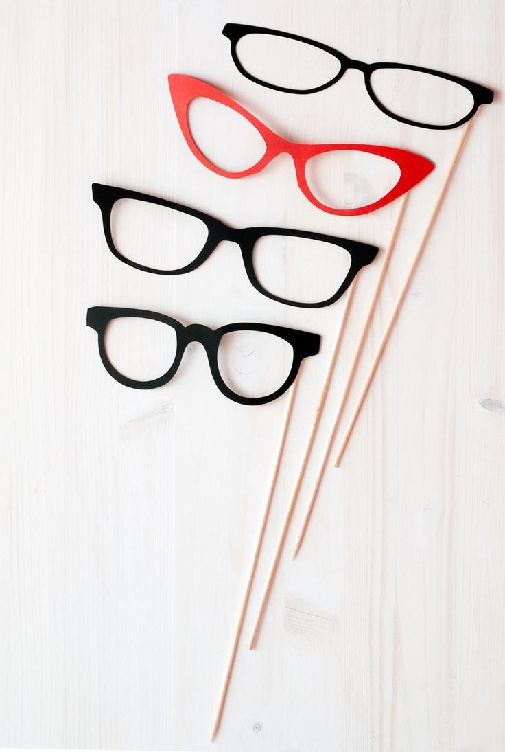 Glasses Photobooth Set