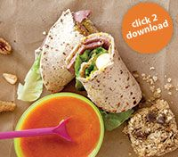 Easy-to-make school lunch recipes: Egg salad sandwiches, wraps, pasta, fruit soup, granola bars, candied apples and more!