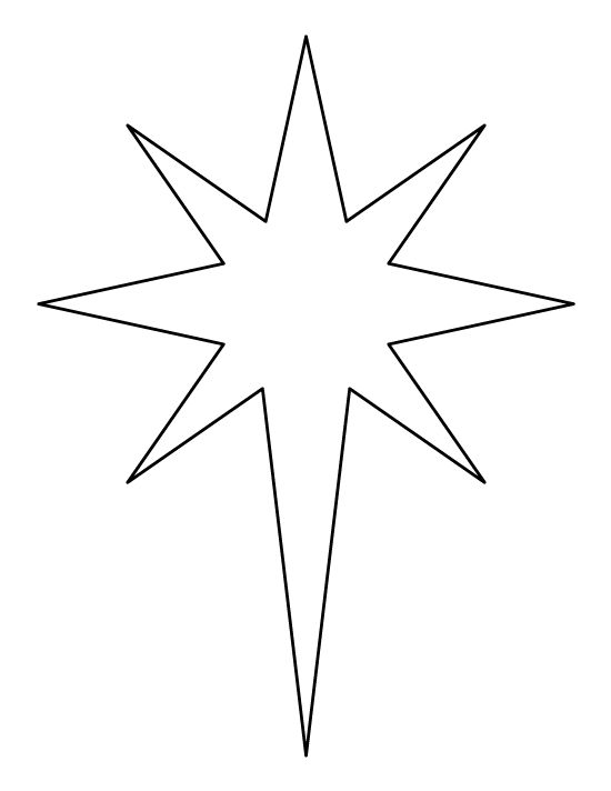 Printable bethlehem star pattern use the for