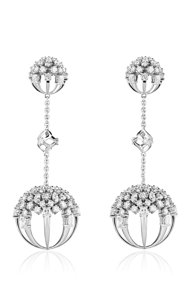 Mixed Diamond Cluster Sphere Drop Earrings by PAUL MORELLI for Preorder on Moda Operandi