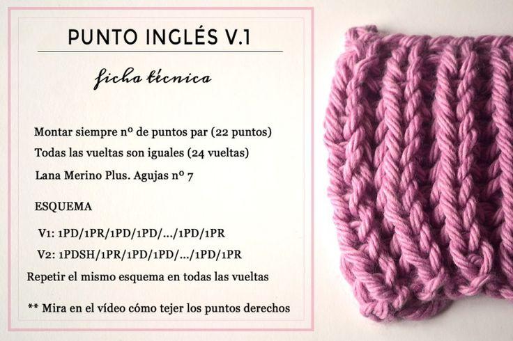Ficha tecnica para tejer Punto Inglés versión 1