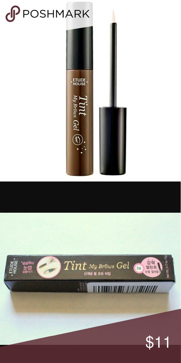 Etude House Tint My Brows Brand new in box Etude house tint my brows in color brown gray. Etude House Makeup Eyebrow Filler