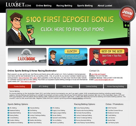 LuxBet, owned by TabCorp is a great online Australian bookmaker.