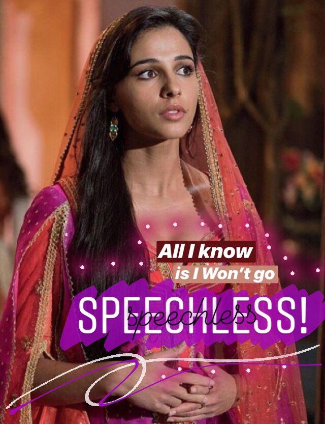 Aladdin Quotes Naomi Scott Princess Jasmine Quotes Speechless Song