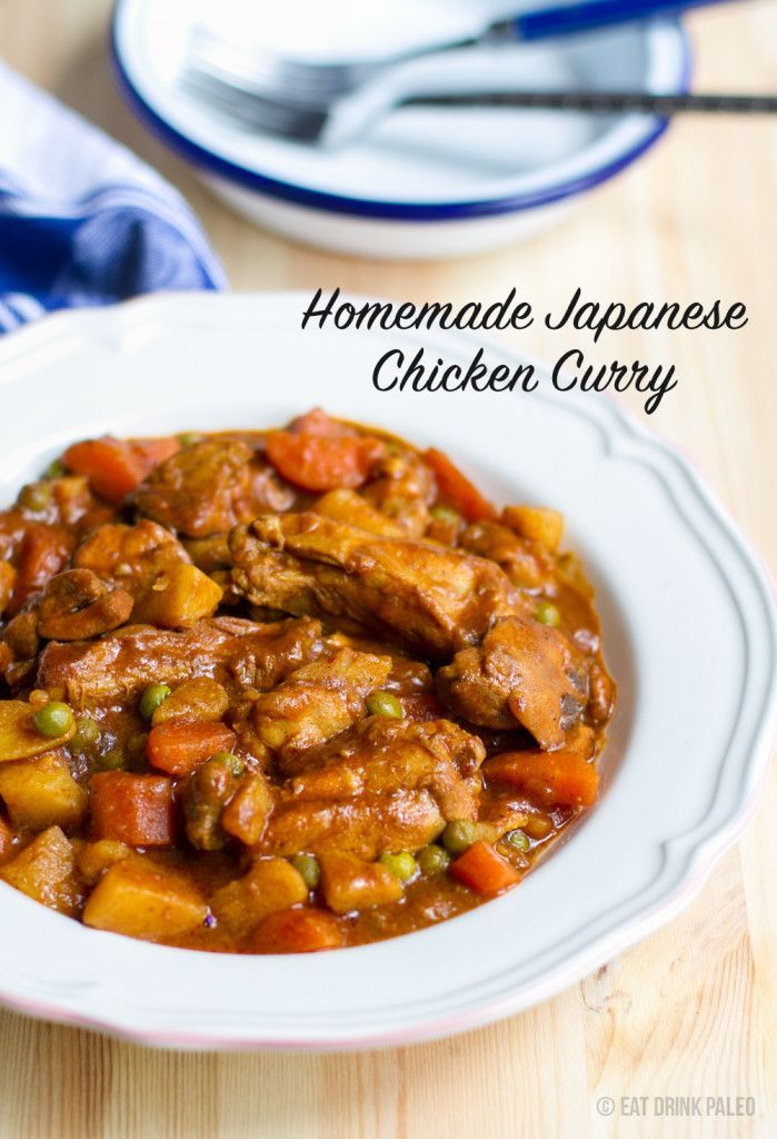 Homemade Japanese Chicken Curry - paleo, gluten free and dairy free. Click for recipe: http://eatdrinkpaleo.com.au/homemade-japanese-chicken-curry-recipe/ (chicken recipes, chicken stew)
