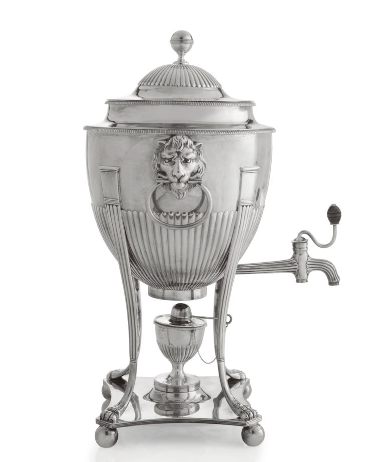 A George III Silver Tea Urn, John Robins, London, 1802 - Sotheby's