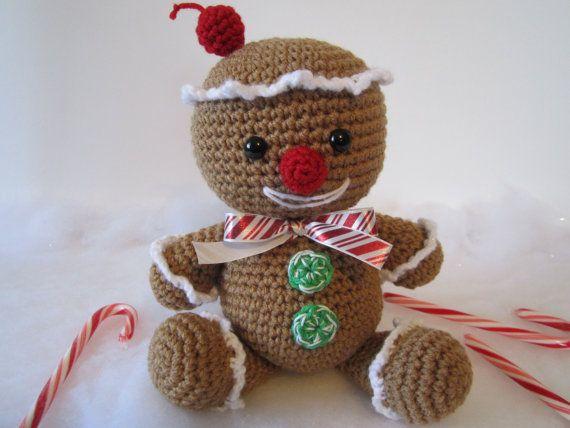 Crochet Gingerbread Man, Gingerbread Man Plush, Christmas Decor, Amigurumi Gingerbread Man by CROriginals