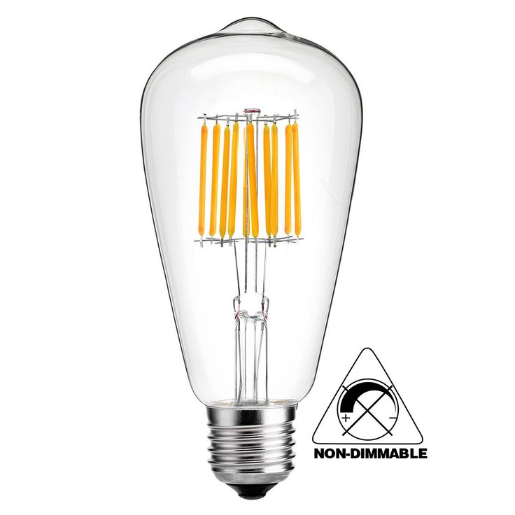 HzSane Antique LED Bulb, 10W ST64 Vintage Edison Not Dimmable Light Bulb LED,Replace 100W Incandescent, Lighting Soft Warm White 2700K,E26 Base.