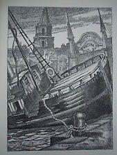 BLAISE CENDRARS 1946 LTD! MARSEILLE PORT MARINE LITHOGRAPHIE MOURLOT BOURLINGUER