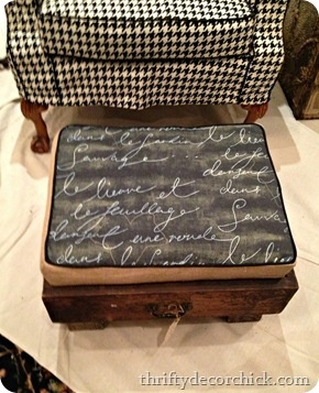 Footstools made from old dresser drawers!  Thrift Decor Chick