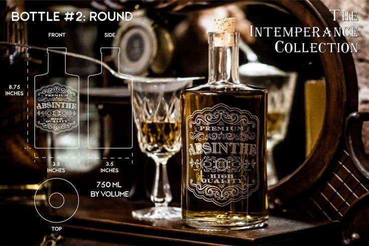 The Intemperance Collection - Victorian style elixir decanters for your home bar or bar cart. Great gifts for him.