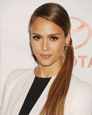 postiche queue de cheval Jessica Alba